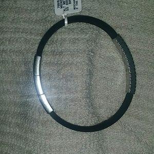 Giorgio Armani Black Stainless Steel Bracelet